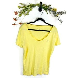 5 for $30 Tommy Hilfiger V-Neck Shirt Large Yellow